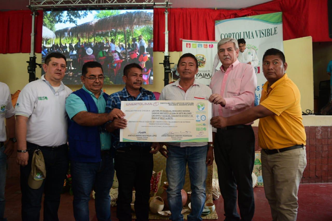 Enertolima y Cortolima benefician comunidades indígenas con el programa Banco2