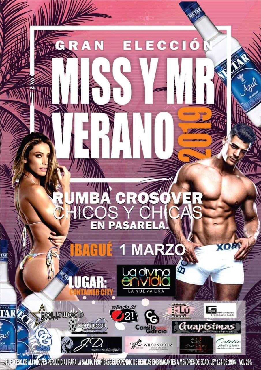 Elección de Miss y Mr Verano 2019 en Ibagué