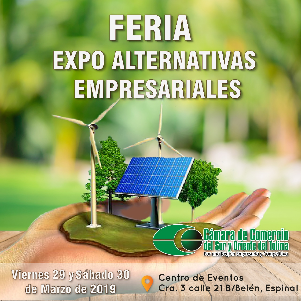 la Feria Expo Alternativas Empresariales 2019, en el Espinal Tolima.