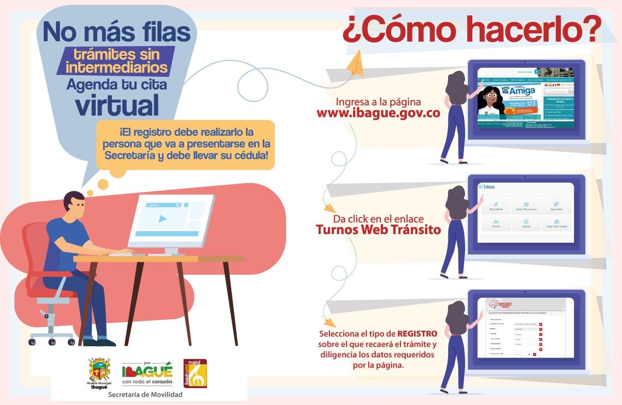 Evite filas y tramitadores en Ibague: solicite su turno web para diligencias en la Sec. de Movilidad