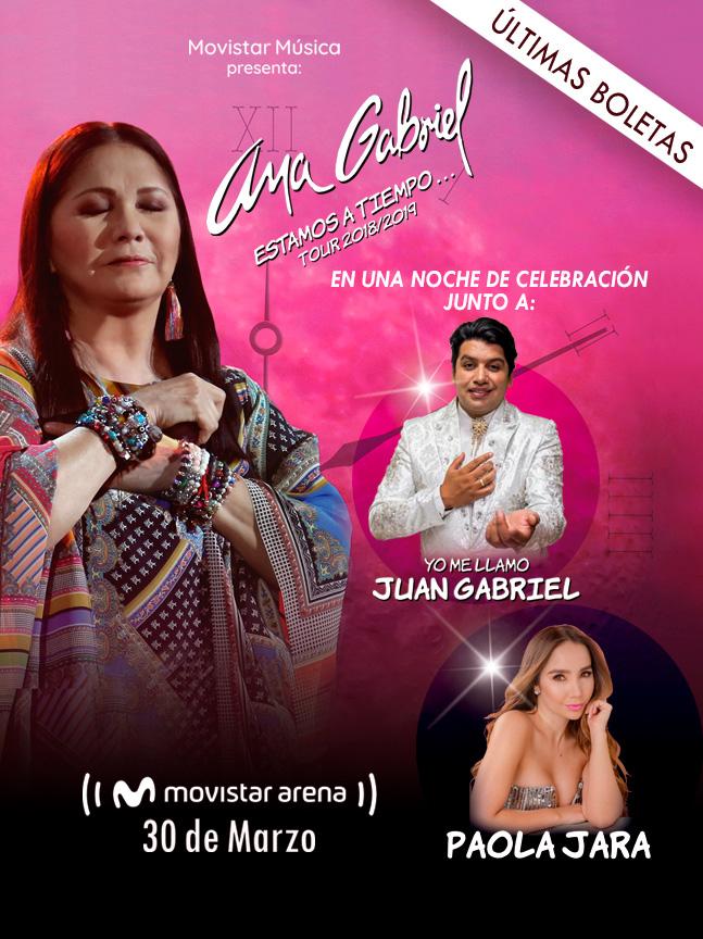 ¡ Ana Gabriel regresa a Bogotá para una gran noche de celebración.