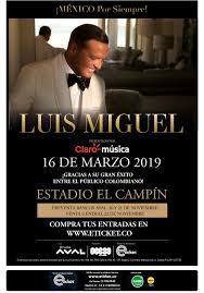 """Luis Miguel""""El Sol, De México en Colombia"""