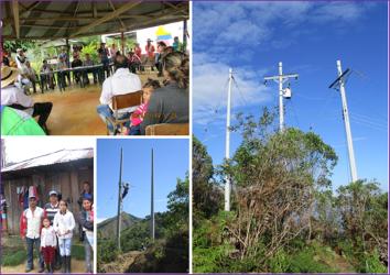 462 familias beneficiadas con proyectos de Electrificación Rural