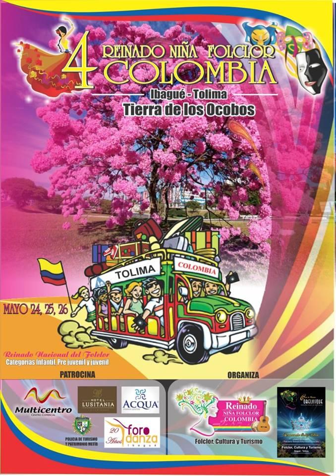 En Mayo los niños de Colombia Danzan y Encantan al Tolima.