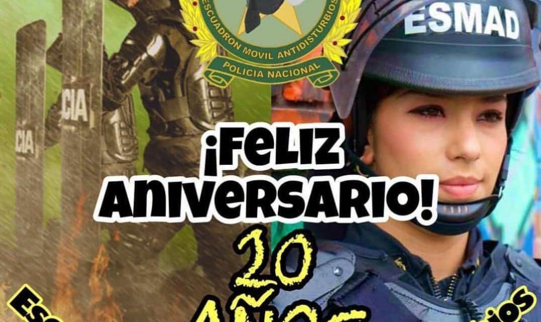 Feliz Aniversario Escuadro Móvil Anti-disturbios 10 años