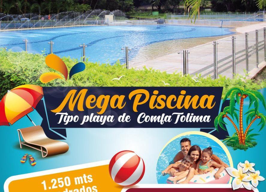 Desde este sábado las familias tolimenses contarán con una moderna piscina tipo playa en lagos club Comfatolima