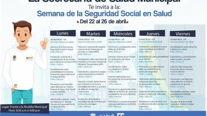 """Conozca la programación de la """"Semana de la seguridad social en salud"""""""