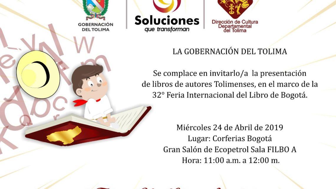 El Tolima presente en la 32° Feria internacional del Libro en Bogotá