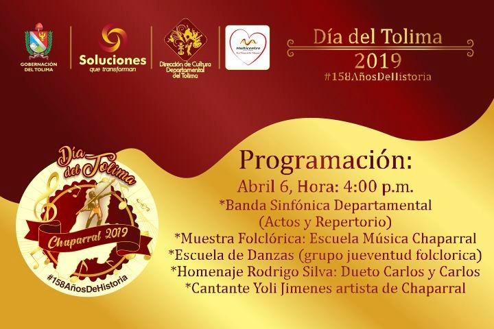 Conmemoración a los 158 años del Tolima