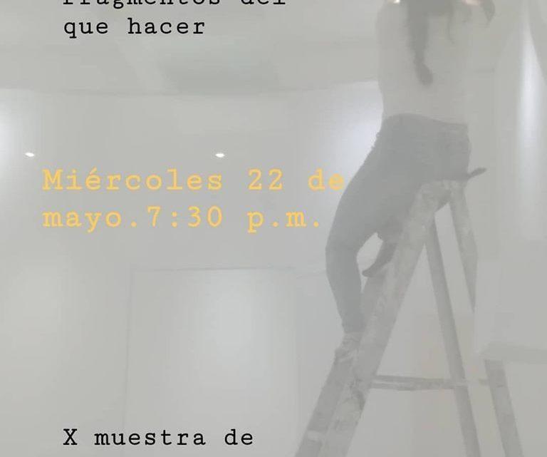 Estudiantes de Artes inauguran la exposición DECAEDRO.