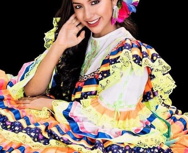 Karol Vanessa Caballero, representante del departamento del Tolima Reina Nacional del Folclor en Ibagué. folcor