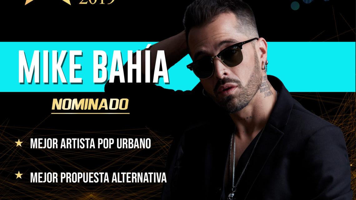 MIKE BAHIA nominado en tres categorías  Latino Show 2019