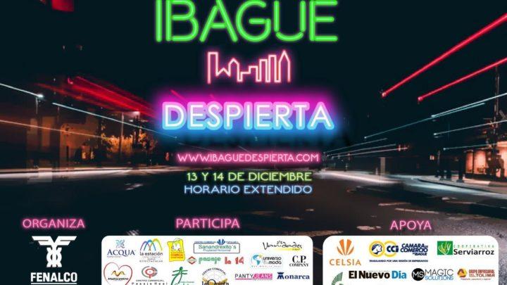 """Viernes 13 y sábado 14 de diciembre. """"IBAGUE DESPIERTA"""""""