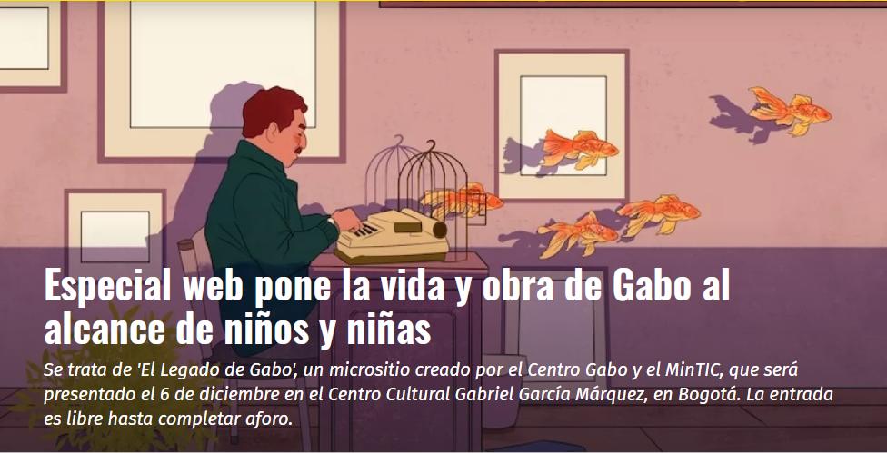 Especial web pone la vida y obra de Gabo al alcance de niños y niñas