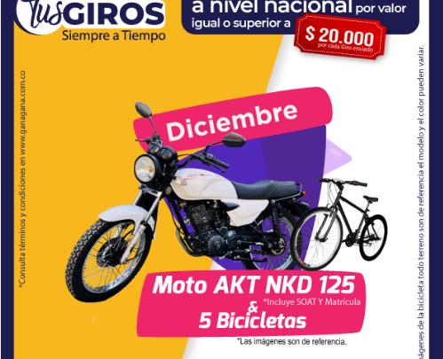 En diciembre la moto LA MOTO QUE QUIERES GANAR CON GANAGANA