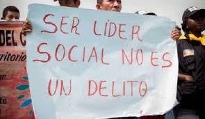 Asegurar la vida de los líderes sociales de Tolima.