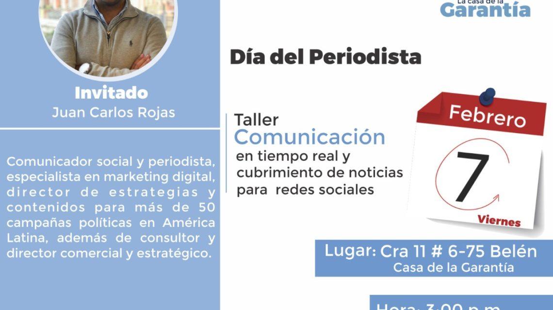 El Taller Comunicación en tiempo real – Cubrimiento de Noticias para Redes Sociales