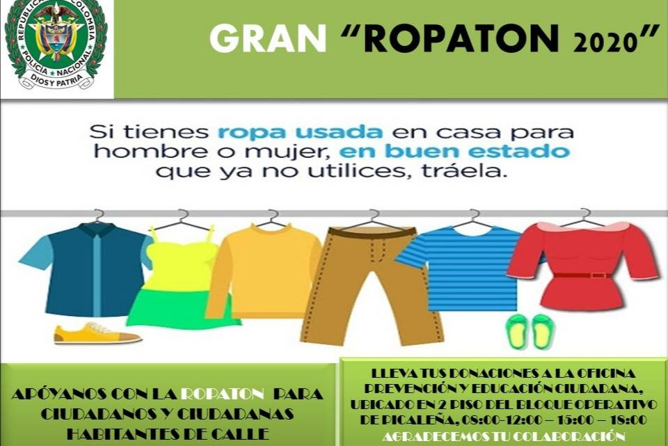 "GRAN ""ROPATÓN 2020"" Policía Metropolitana de Ibagué ""Somos uno, somos todos""."