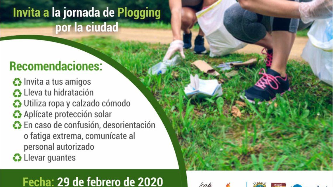 Turistas: Ibaguè realiza carrera 'Plogging' evento con conciencia ambiental