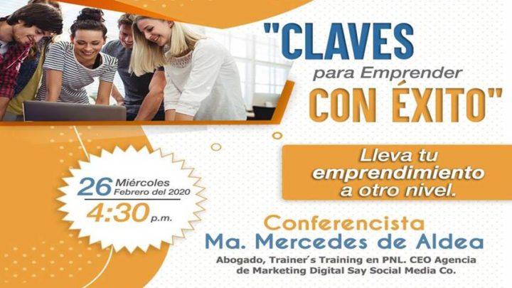 """Conferencia """"CLAVES PARA EMPRENDER CON EXITO"""""""