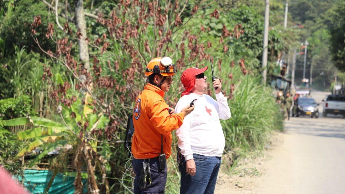 Avanzan obras de mitigación en vía al Cañón del Combeima