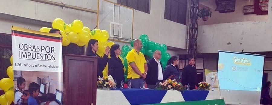 GANAGANA NUEVAMENTE PARTICIPA EN PROYECTO DE OBRAS POR IMPUESTOS TOLIMA