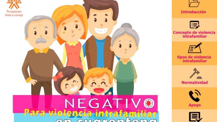 Programa Tecnoparque del Centro Agropecuario La Granja crea proyecto 'Negativo para violencia intrafamiliar en cuarentena'