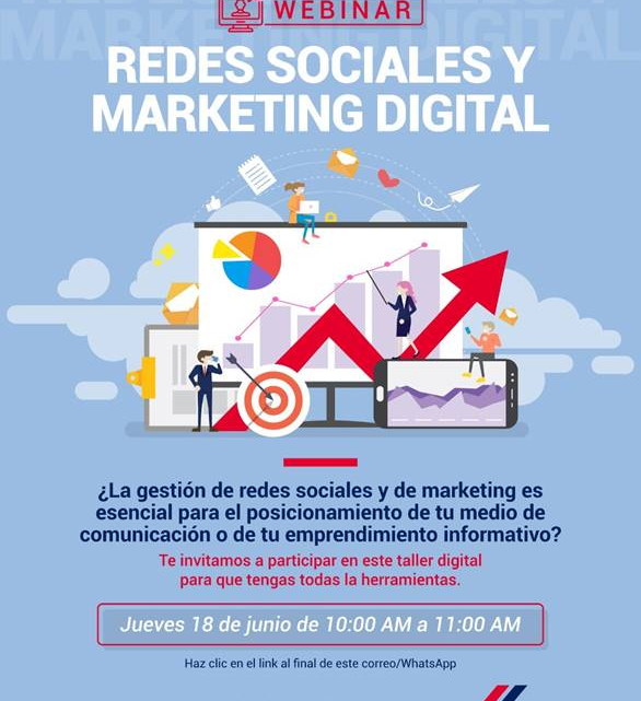 GESTIÓN DE REDES SOCIALES Y MARKETING DIGITAL – WEBINAR – ¡NO PIERDAS LA OPORTUNIDAD!
