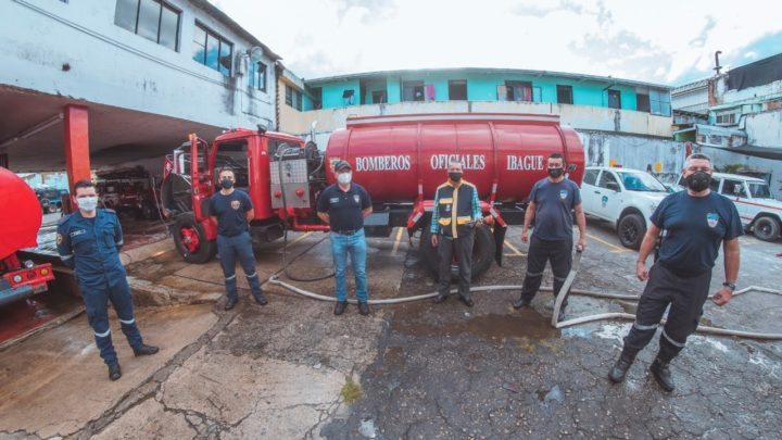 Cuerpo Oficial de Bomberos Ibague tiene carrotanque nuevo.