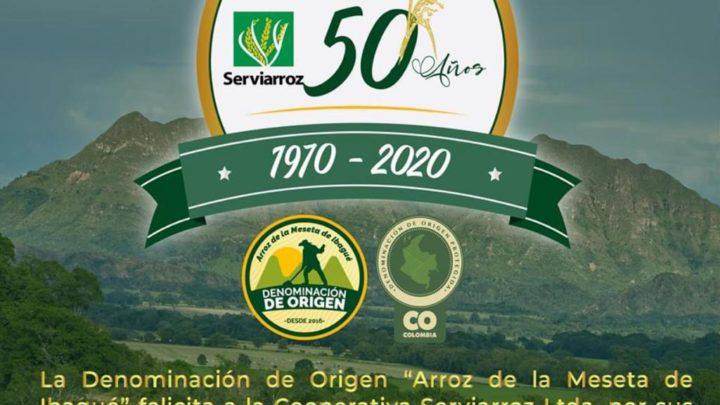 Serviarroz cumplió 50 Años al servicio del sector Agropecuario del Tolima Se