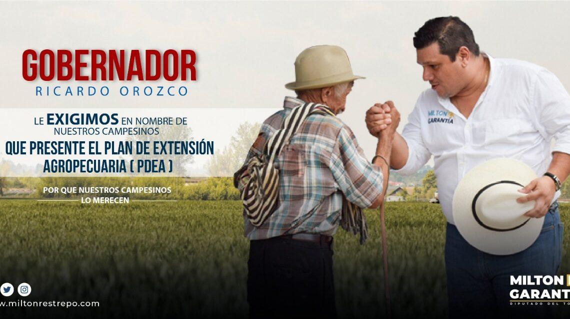 Milton Restrepo envía carta Gobernador Ricardo Orozco preocupación por la   el desarrollo  campo Tolimense.