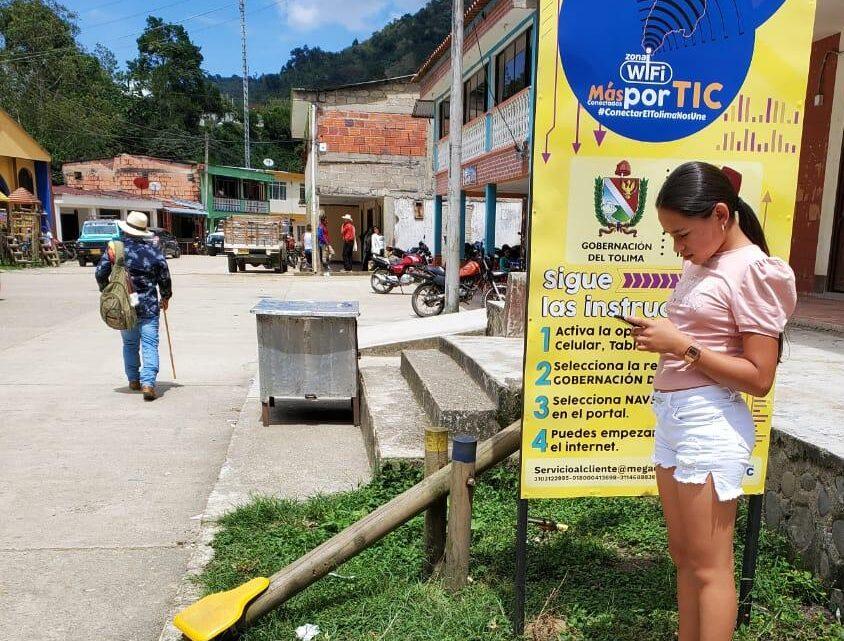Turistas: Veredas apartadas de Chaparral Tolima ahora cuentan con zonas WIFI .