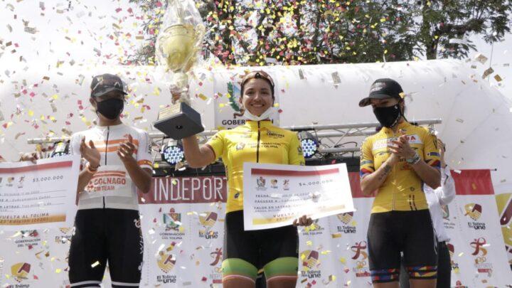 Turistas: Aldemar Reyes y Yenifer Ducuara, los campeones de la Vuelta al Tolima 2020