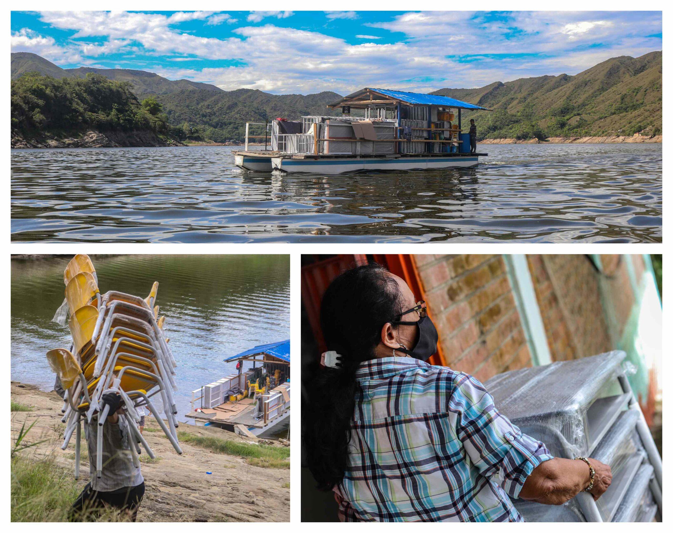 En lancha y a caballo, Celsia entrega mobiliario escolar en Tolima.