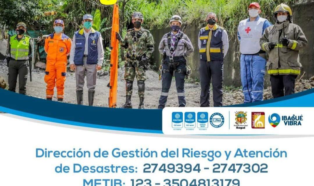Ibaguè atiende afectaciones por lluvias en zona urbana y rural