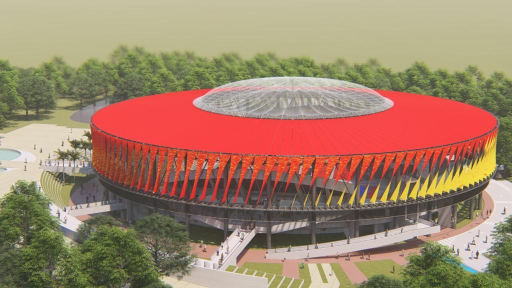 Turistas: Coliseo Mayor que se construye en Ibague -Tolima