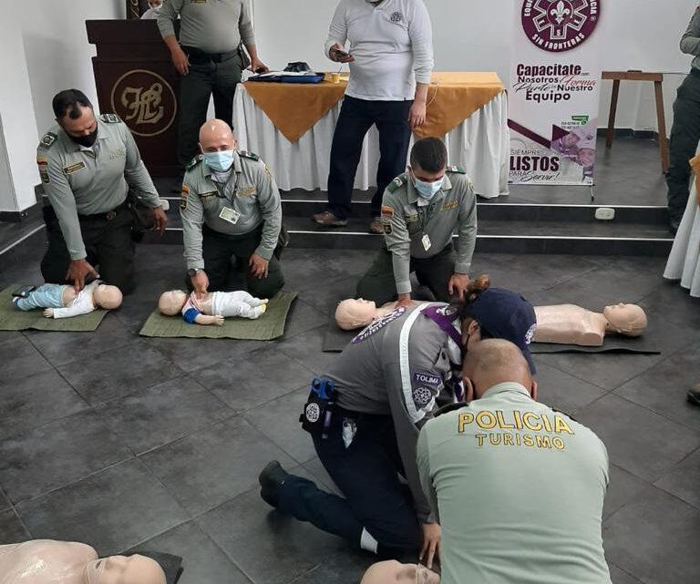 Policía de Turismo Ibague se capacita  reanimación cardiopulmonar (RCP)