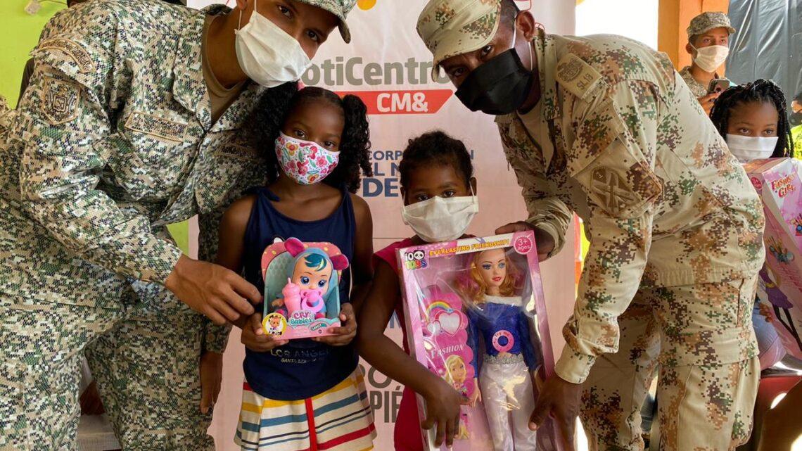 Toneladas de felicidad llegó a San Andrés para los niños y niñas de Providencia