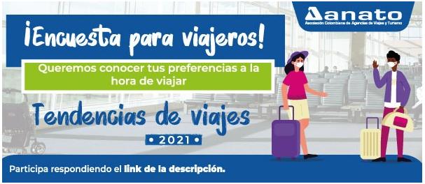 """ANATO busca conocer las preferencias de los viajeros a través de la encuesta: """"Tendencias de viajes 2021"""""""