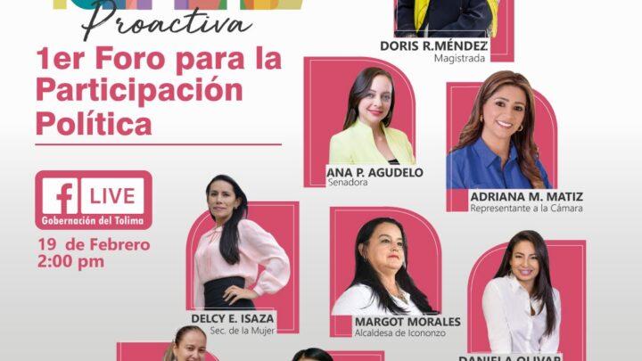 Turista: Foro de Participación Política con mujeres en el Tolima