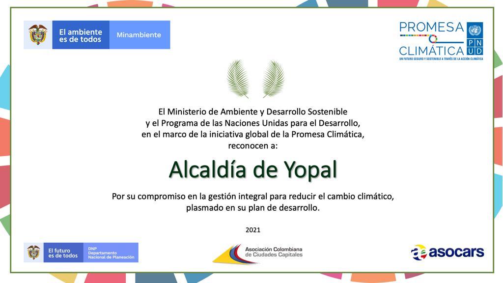 Turistas: Plan de Desarrollo de Yopal fue catalogado promesa climática de Colombia
