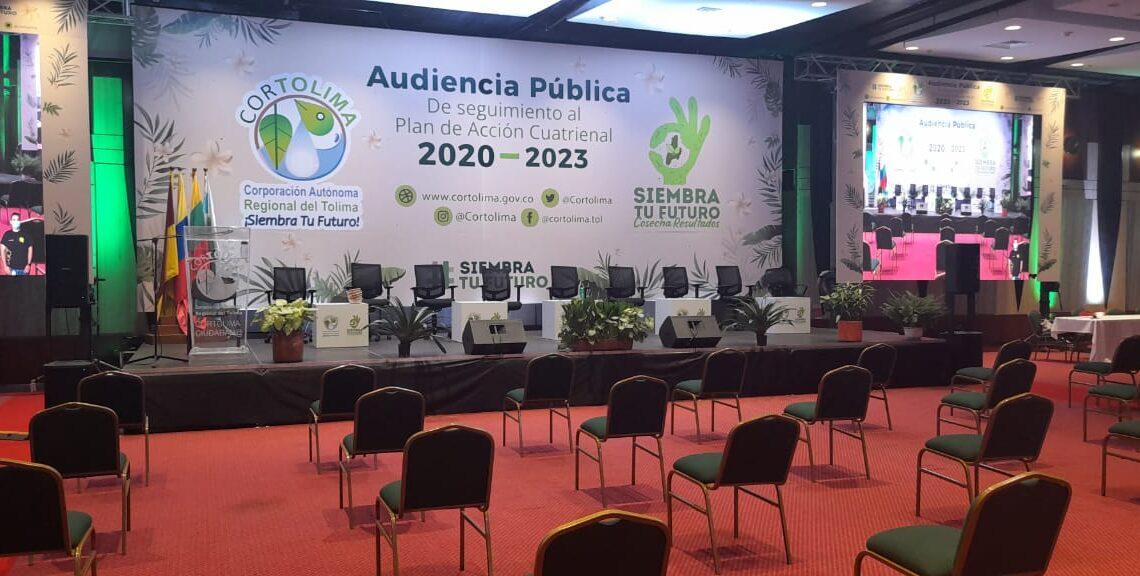 Turistas: Cortolima, audiencia pública de seguimiento del Plan de Acción Cuatrienal 2020-2023.