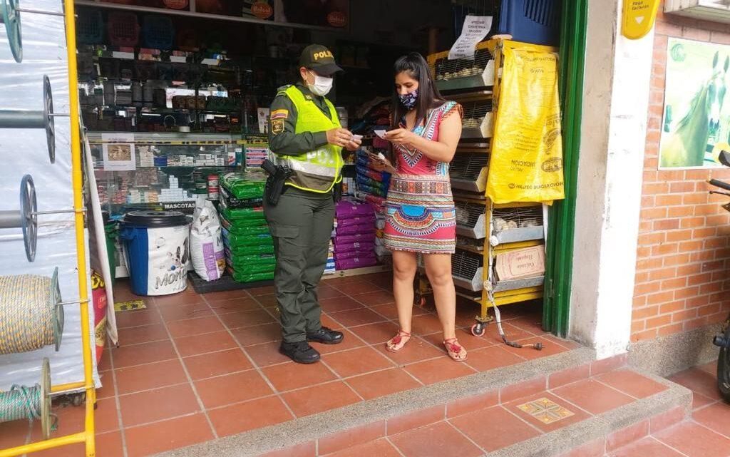 Prevención y control por la Policía Metropolitana de Ibaguè.