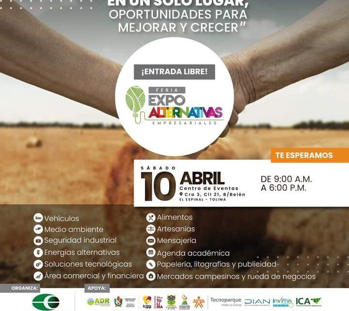 Turistas: Espinal  Feria Expo Alternativas Empresariales 2021