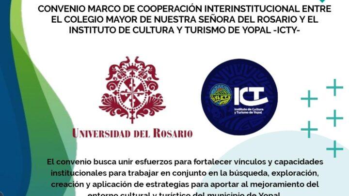 Turismo de Yopal convenio de cooperación con Universidad del Rosario e Instituto de Cultura