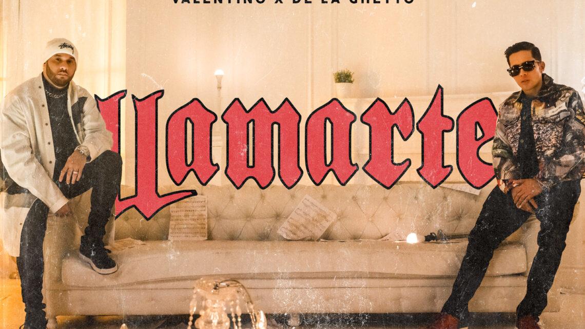 """VALENTINO PRESENTA """"LLAMARTE"""" JUNTO A DE LA GHETTO"""