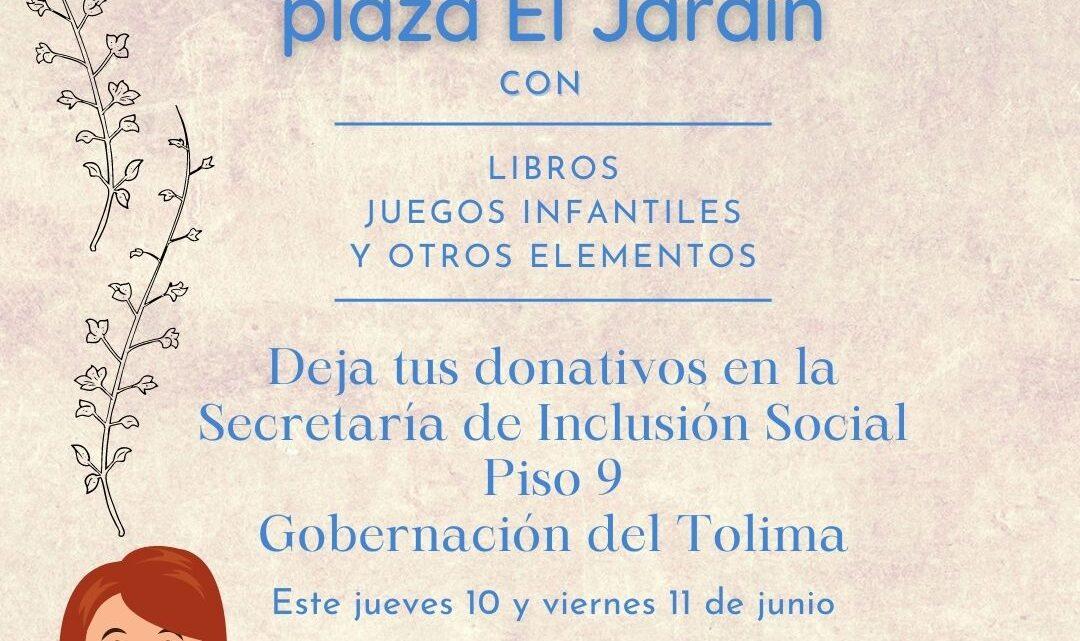 Turistas: En Ibaguè, la plaza El Jardín tendrá ludoteca