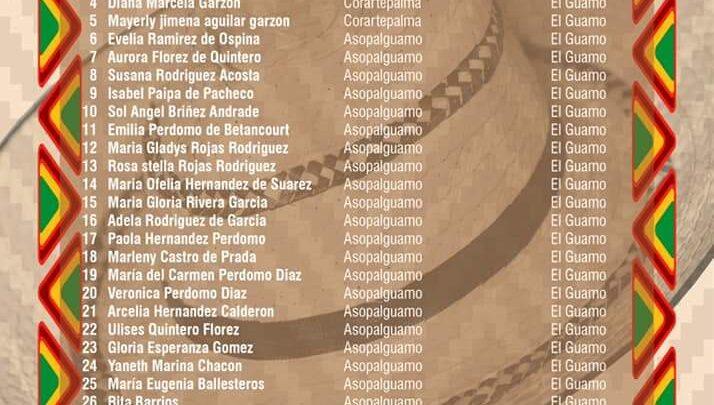Turistas: 33 artesanas participarán en el Día del Sombrero Tolimense