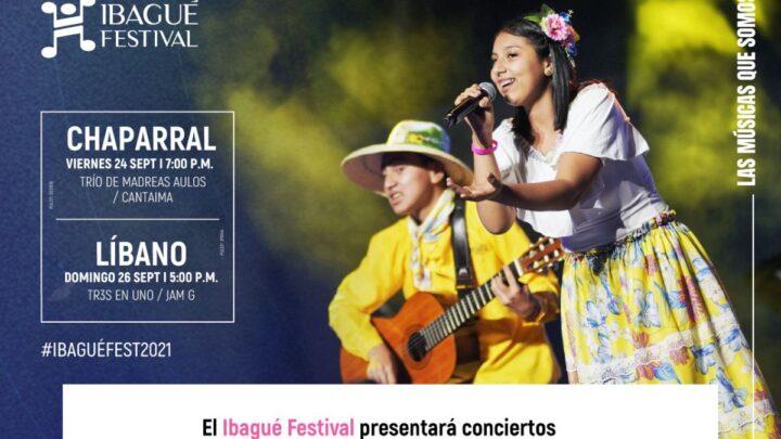 Turistas: El Ibagué Festival presentará conciertos en los municipios de El Líbano y Chaparral (Tolima)