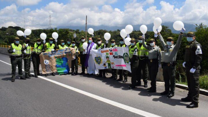 """METIB  y Grupo de Protección a la Infancia y Adolescencia, realizó acto simbólico   prevención del """"suicidio"""""""